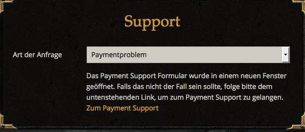 Zahlung nicht erhalten | Drakensang Online DE